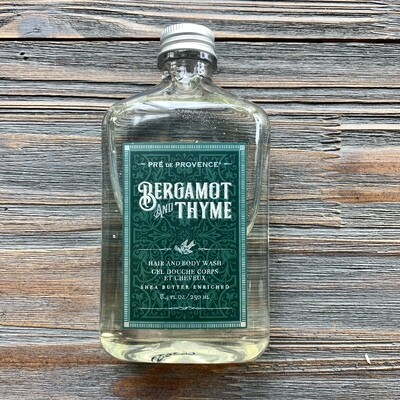 Bergamot And Thyme Hair & Body Wash for Men