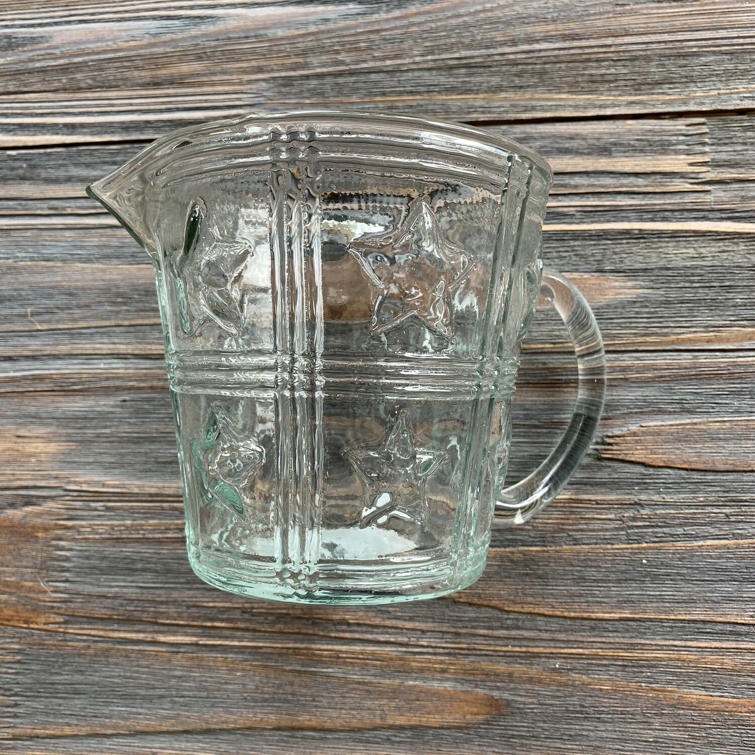 24 oz Glass Pitcher with Stars