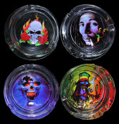 1969 ASSORTED GLASS ASHTRAY