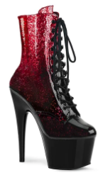 ADORE-1020 OMBRE ANKLE BOOT RED 10
