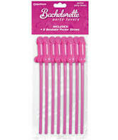 BACHELORETTE 8 BENDABLE PECKER STRAWS