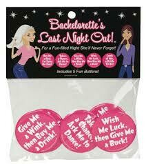 BACHELORETTE LAST NIGHT OUT BUTTON ASSORTMENT