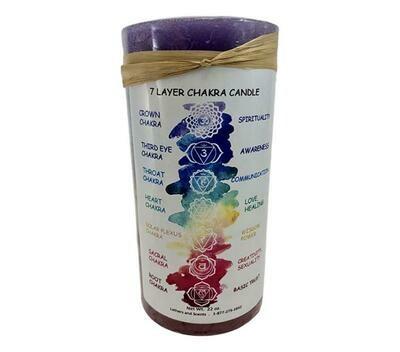 Large Layered Chakra candle