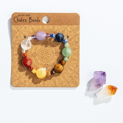 Chakra beaded good energy bracelet