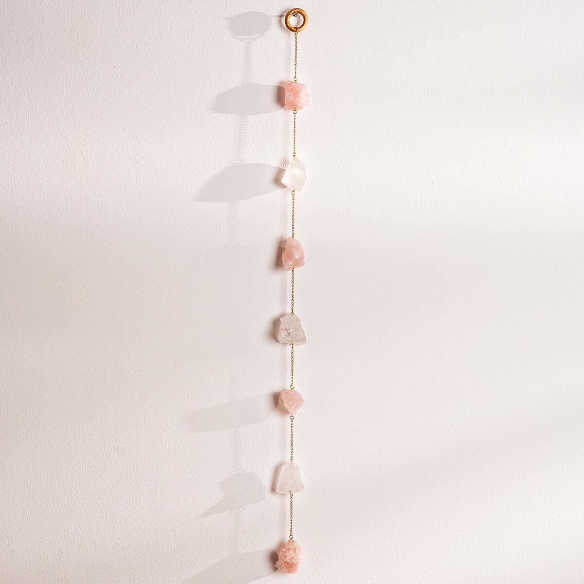 rose quartz wall hanging
