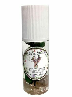 In the Woods Pulse Point Perfume Cedar Sage Green Tea 1oz