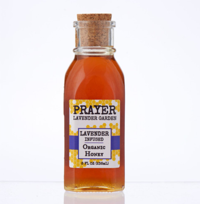 Lavender Infused Organic Honey 8 fl oz