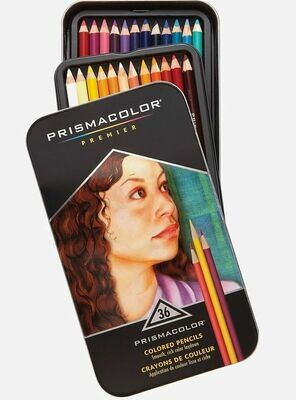 Prismacolor Premier Thick Core Colored Pencil Sets, 36-Color Set
