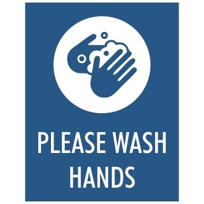 Please Wash Hands - Sign