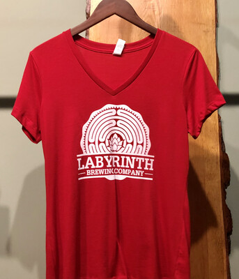 Ladies Red Tee