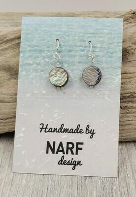 Abalone Shell Circle Earrings
