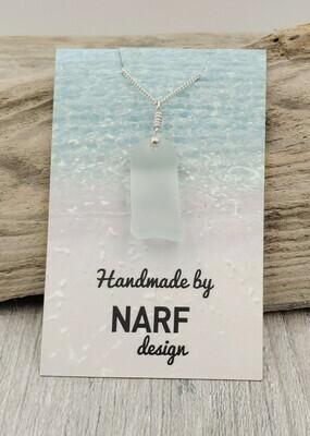 Pale Seafoam Green Lake Erie Beach Glass Necklace