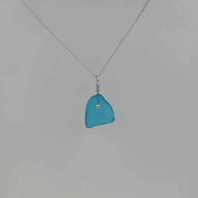 Light Blue Maine Sea Glass Necklace