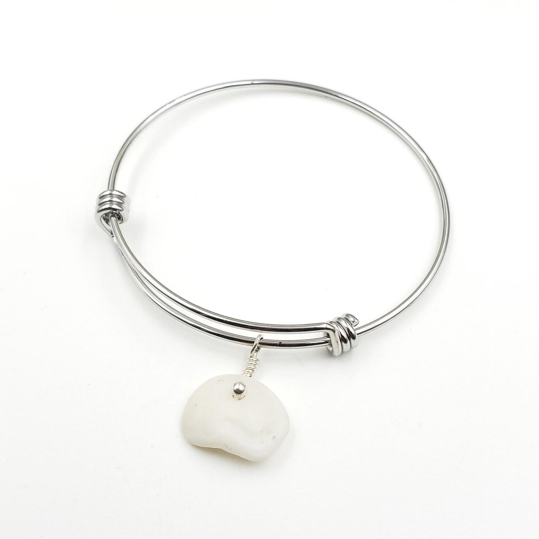 Bangle Bracelet with Lake Erie Lucky Stone