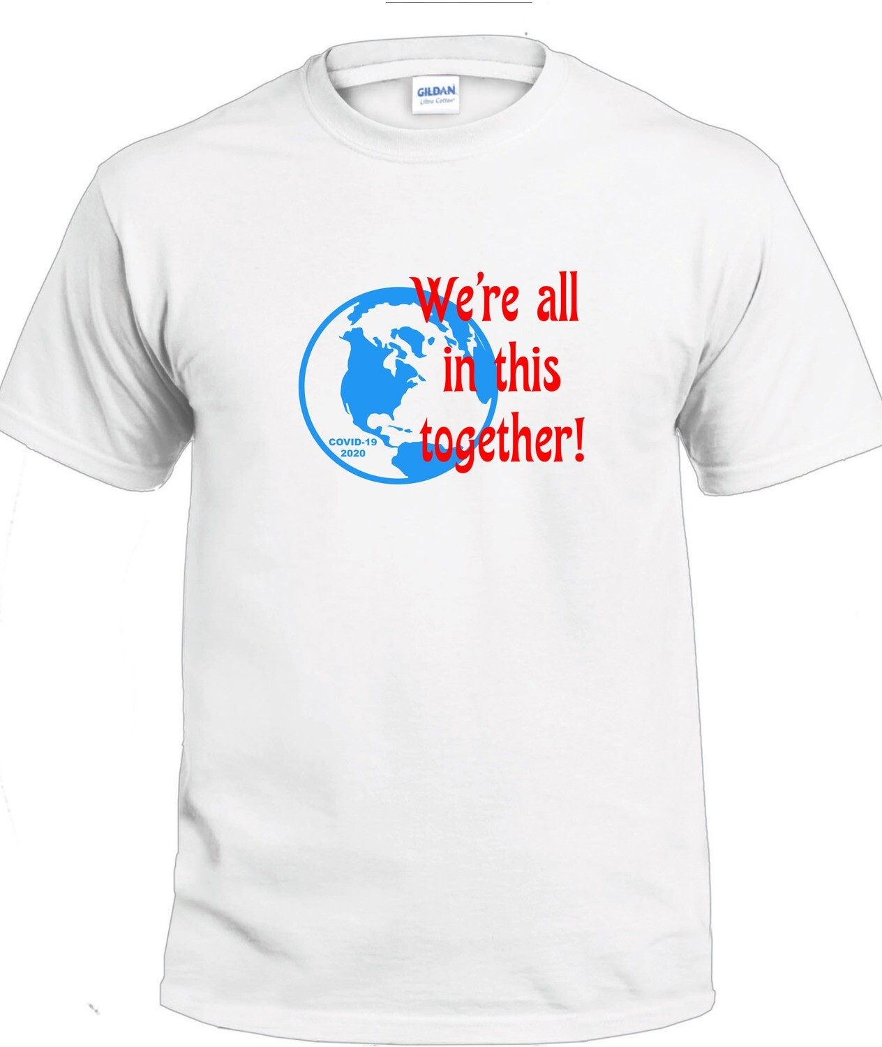 Together T-Shirt (Blue & Red on White)