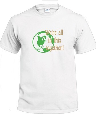 Together T-Shirt (Green & Gold on White)