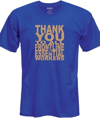 Thank You T-Shirt (Gold on Blue)