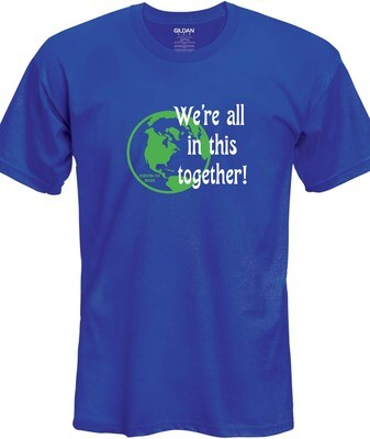 Together T-Shirt (Green & White on Blue)