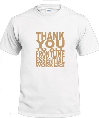 Thank You T-Shirt (Gold on White)