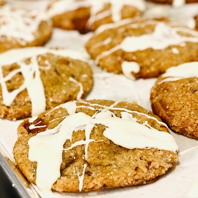 Jumbo Salted Caramel White Chocolate Cookie