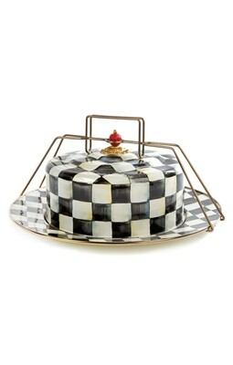CC enamel cake carrier