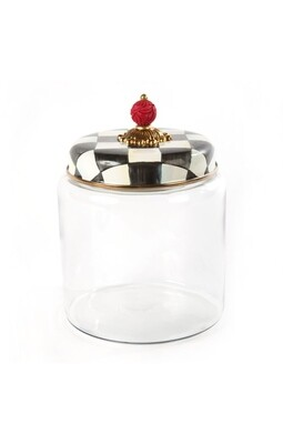 CC enamel kitchen canister large