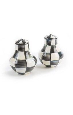 CC enamel salt and pepper shakers