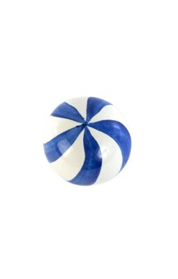 Dot knob blue and white