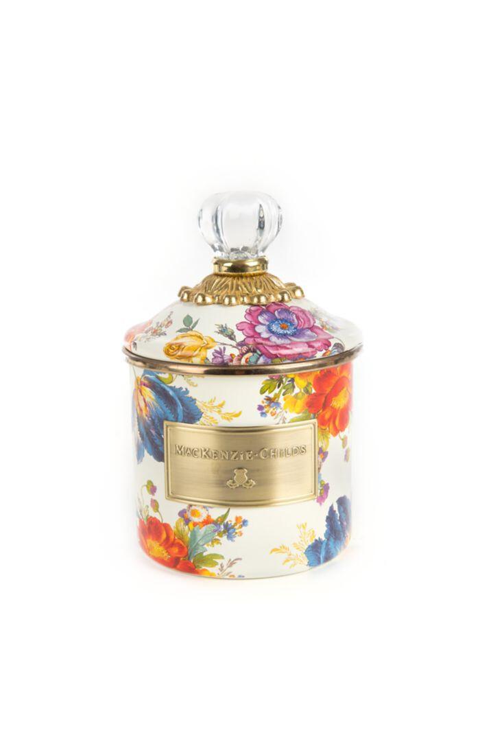 Flower market demi canister white