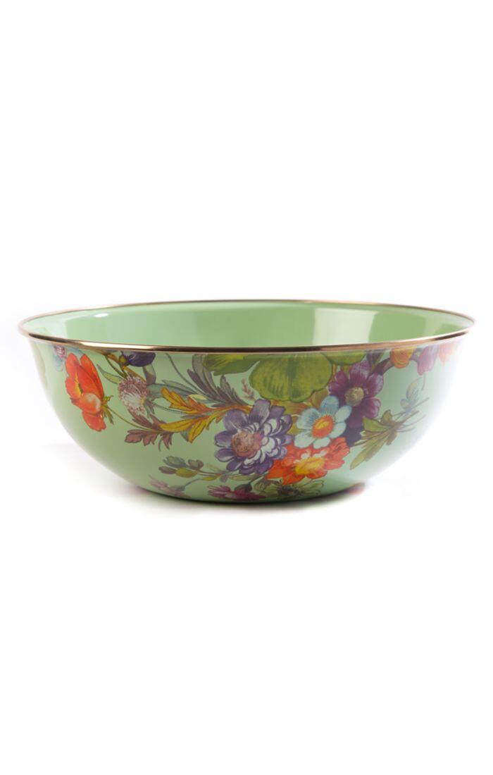 Flower market everyday bowl extra large green