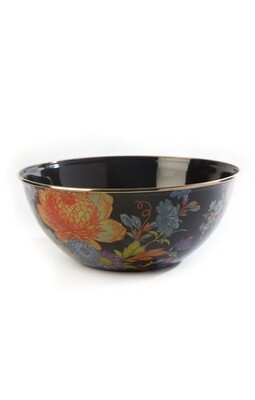 Flower market everyday bowl large black