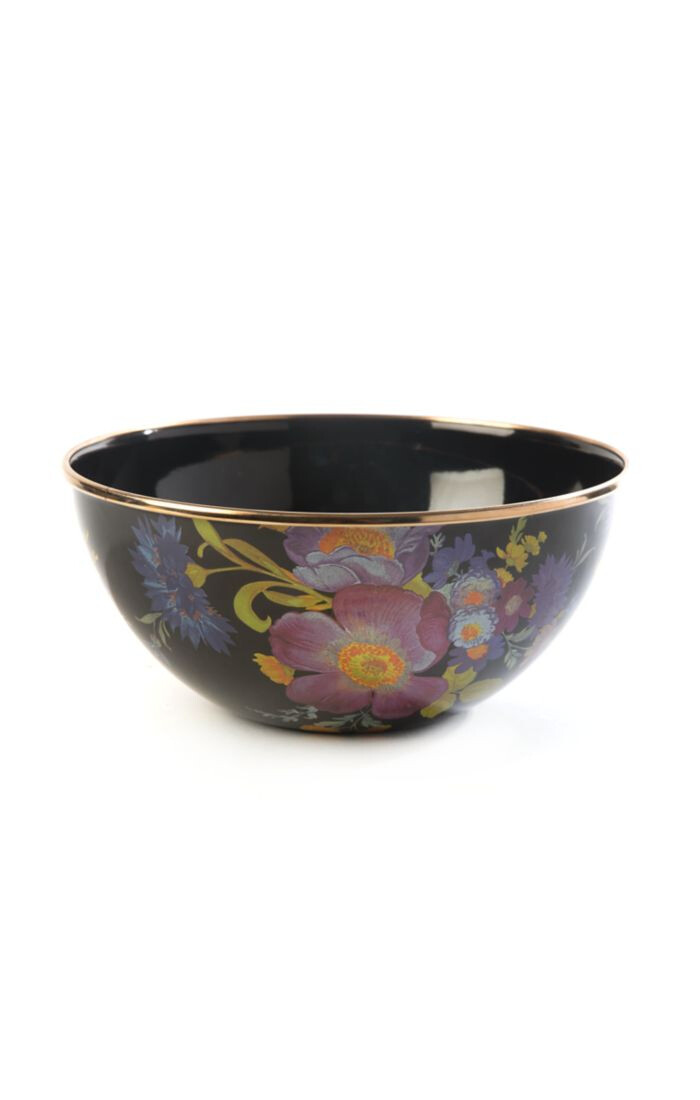 Flower market everyday bowl black small
