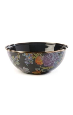 Flower market everyday bowl medium black