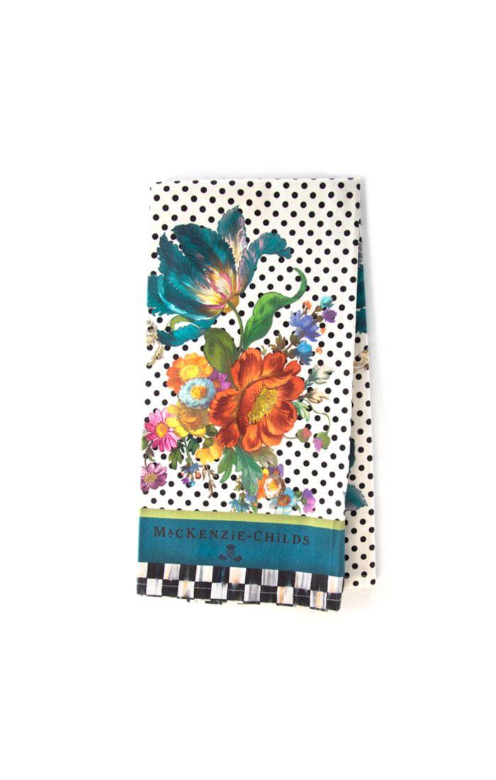 Flower market dish towel