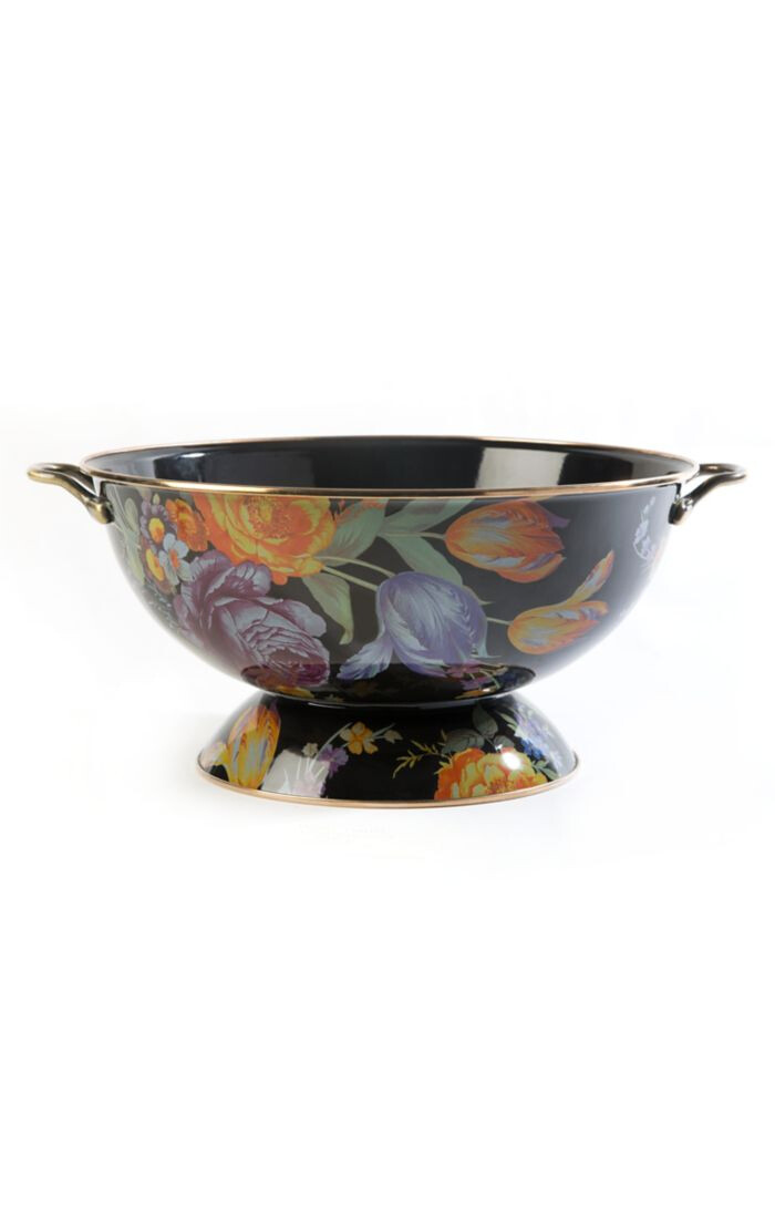 Flower market everything bowl black