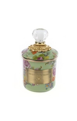 Flower market mini canister green