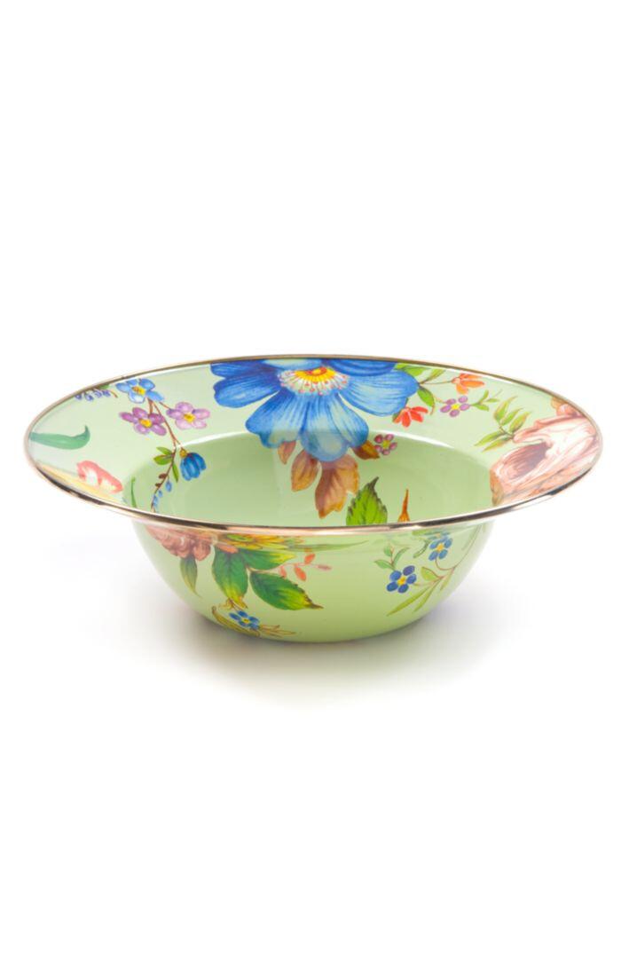 Flower market serving bowl green