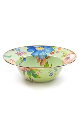 Flower market serving bowl green