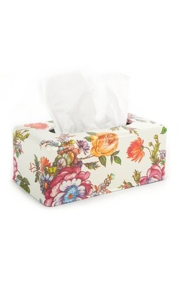 Flower market tissue box holder long