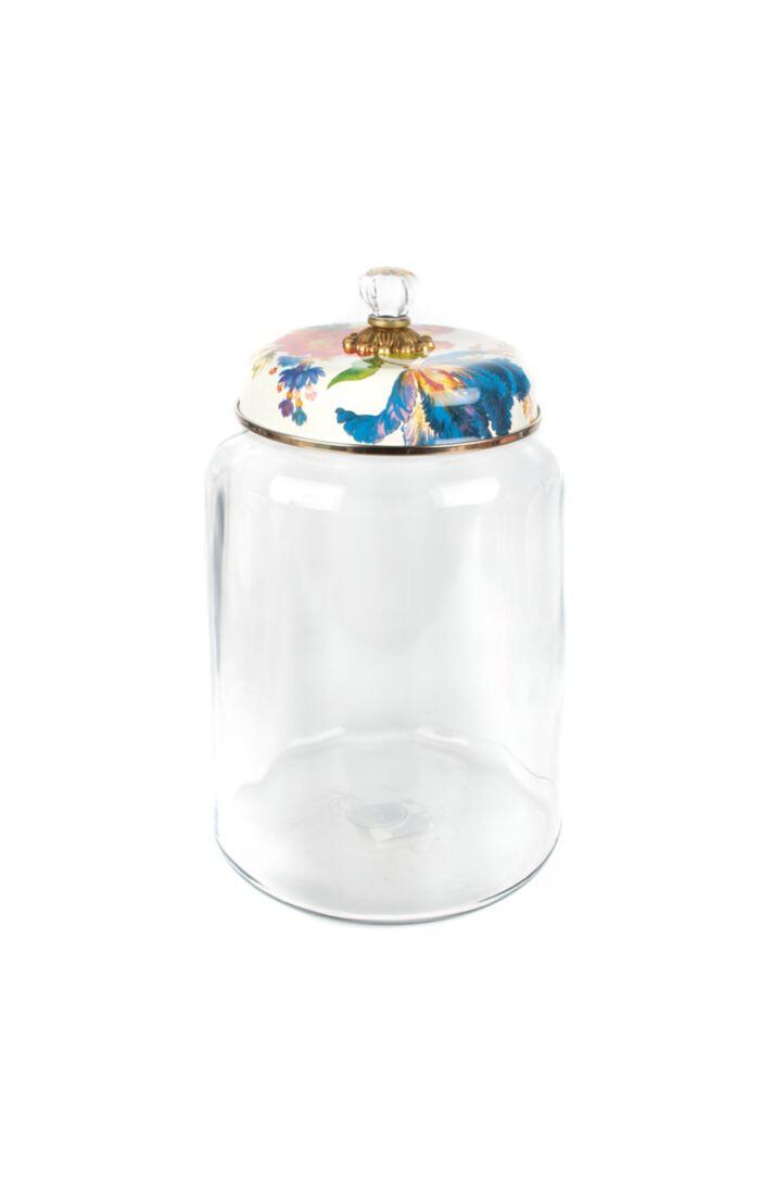 Flower market storage canister white biggest