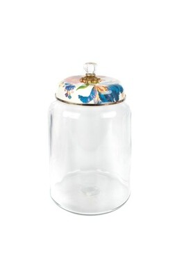 Flower market storage canister white biggest