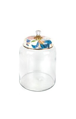 Flower market storage canister white bigger