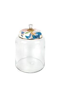 Flower market storage canister white bigger