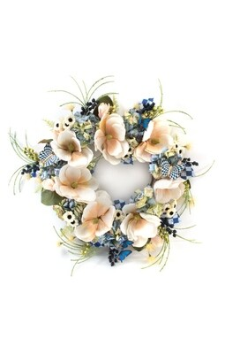 Royal check butterfly wreath