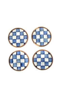 Royal check coasters set of 4