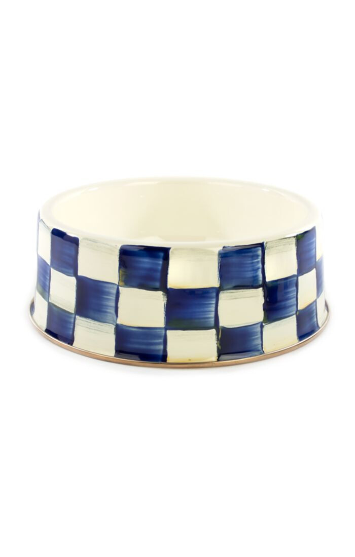 Royal check pet dish large