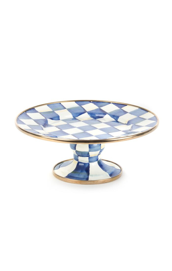 Royal check pedestal platter mini