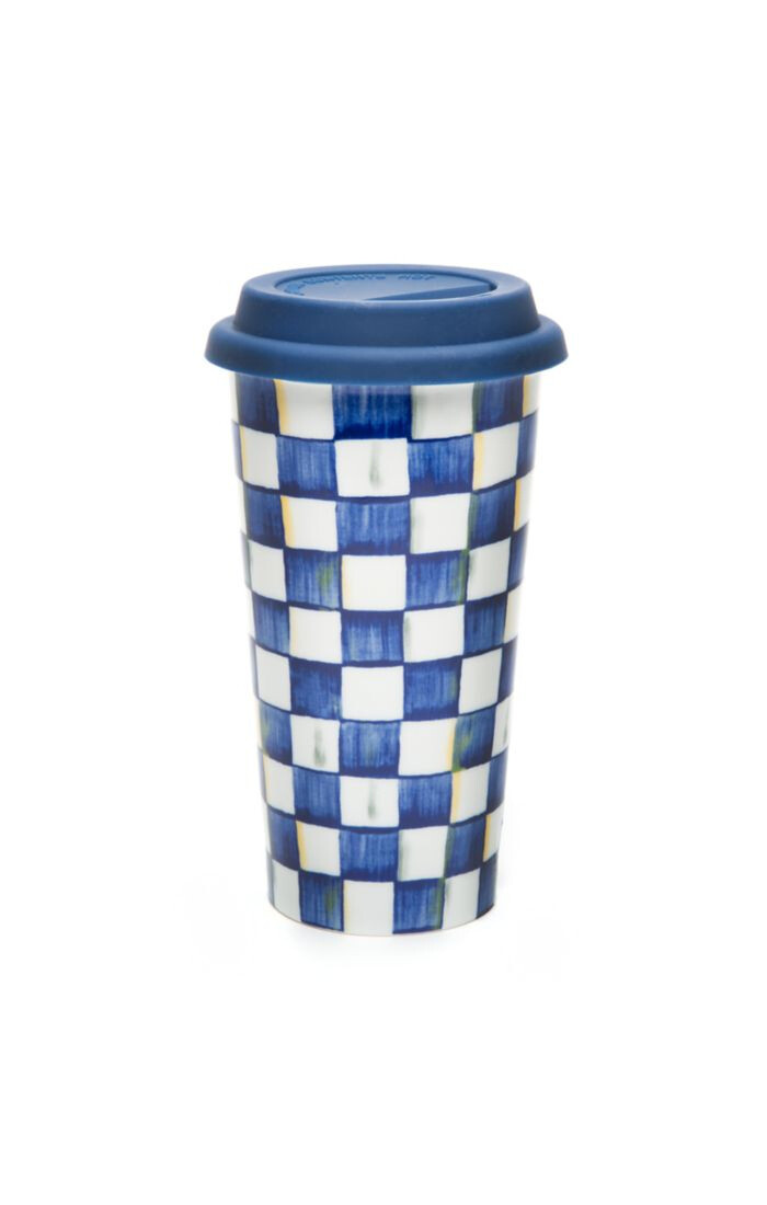 Royal check travel cup