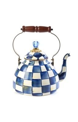 Royal check tea kettle 3 qt