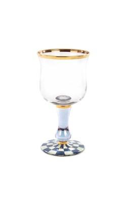 Royal check wine glass
